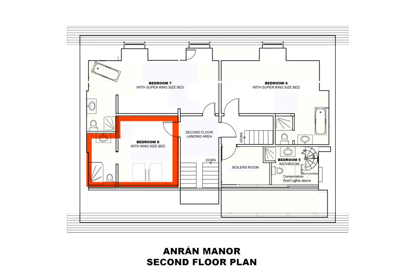Manor Bedroom 8 plan
