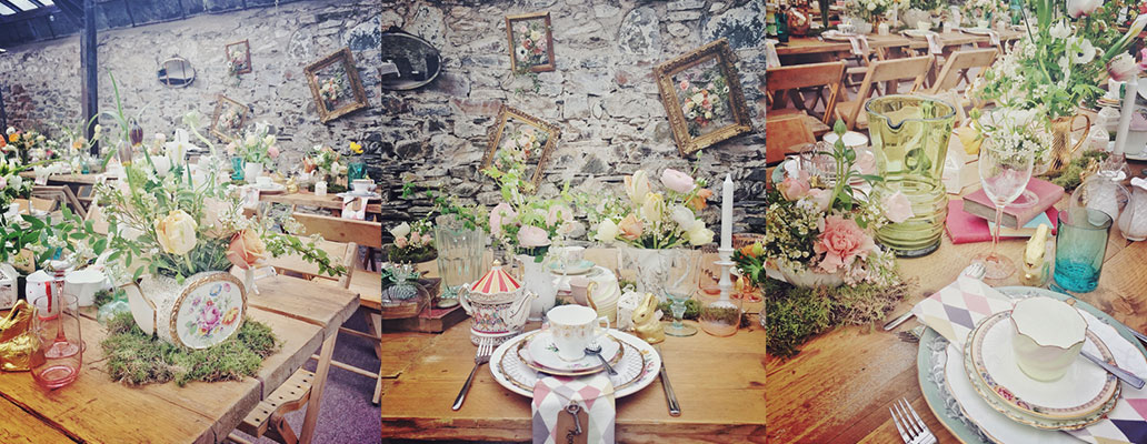 Nancy & Howard's 'Alice in Wonderland' wedding at ANRÁN, Devon